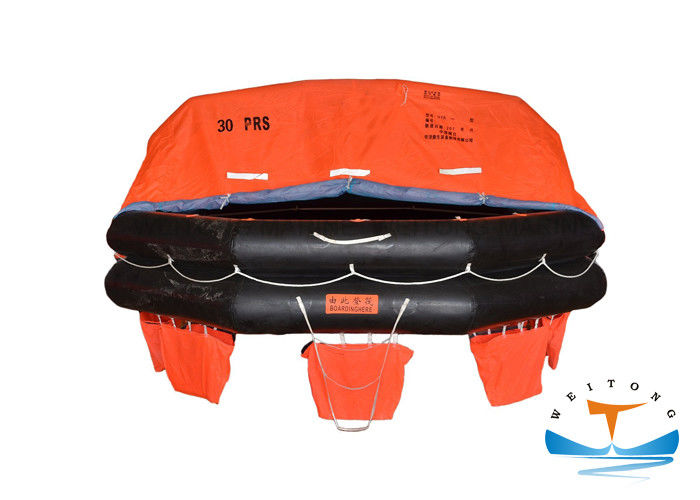 Waterproof Marine Life Raft 30 Person For Sea Sailing Vessel 43m Max. Stowage Height