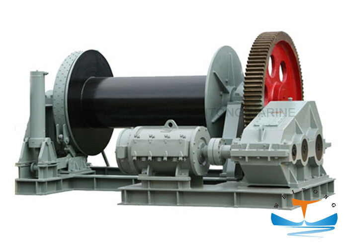 Horizontal Electric Mooring Winch Large Torque 30 - 400kn Working Load